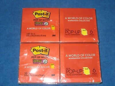 3m Post It Pop Up Sticky Notes Marrakesh 3 X 3 6 Pack Lot Of 2 New