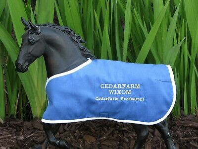 CEDARFARM WIXOM embroidered blanket Breyer Percheron draft horse drafter