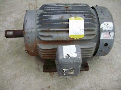 Baldor 15hp Tefc Electric Motor 254t Frame 1760 Rpm 230460 Volt