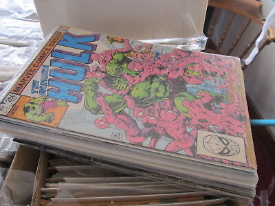 Incredible Hulk lot of 17 comics Marvel 1980s - 1980s Incredible Hulk