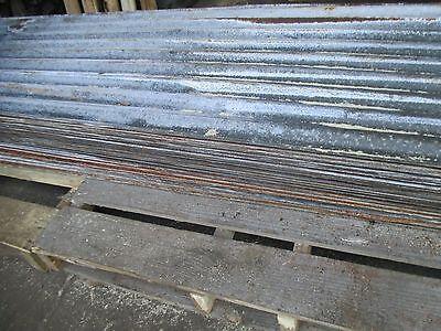 1960s Rustic S Curve Corrogated Tin Metal Panels 7 Ft. X 2 Ft