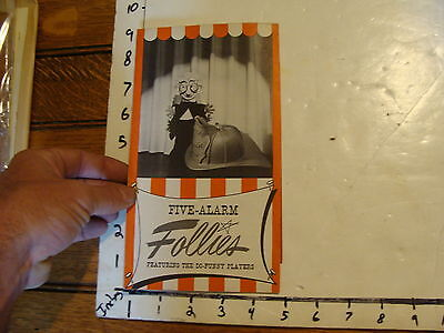 Vintage MARIONETTE Paper: FIVE-ALARM FOLLIES do funny players brochure fold out