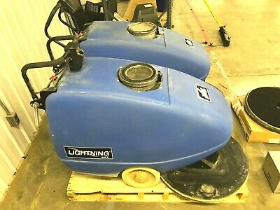 Windsor Lightning 22ft Floor Burnisher Buffer L22ft W 36v Charger Set Of 2