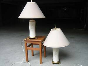 2 old table / deck lamps. Bondi Eastern Suburbs Preview