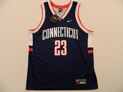 - M11 Rare New NIKE Team Connecticut UConn Huskies 23 Basketball Jersey MEN'S L/XL