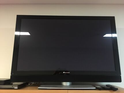 Really big Pioneer TV with DVD player