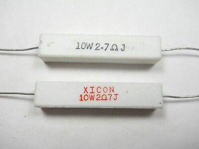 2.7 Ohm 10 Watt 5 Cement Power Resistor Nosnew Old Stockqty 10 Ead4
