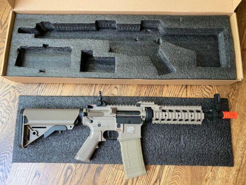 Matrix Tactical Systems Tan M4 Airsoft Rifle Gun Electric Battery-Powered BB
