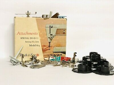NOS VTG. SINGER TOUCH & SEW ATTACHMENTS SPECIAL ZIG-ZAG SEWING MACHINE MODEL 603