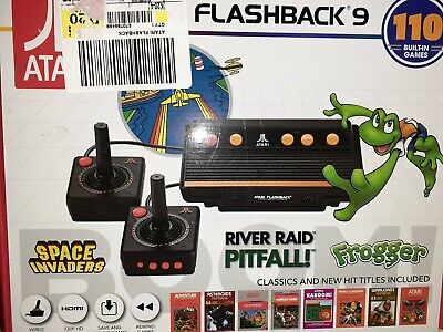 New Atari Flashback 9 HDMI Game Console 110 Games Wired Joystick Controllers 136