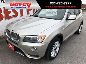 2014 BMW X3 xDrive28i AWD, LEATHER, SUNROOF, NAVIGATION