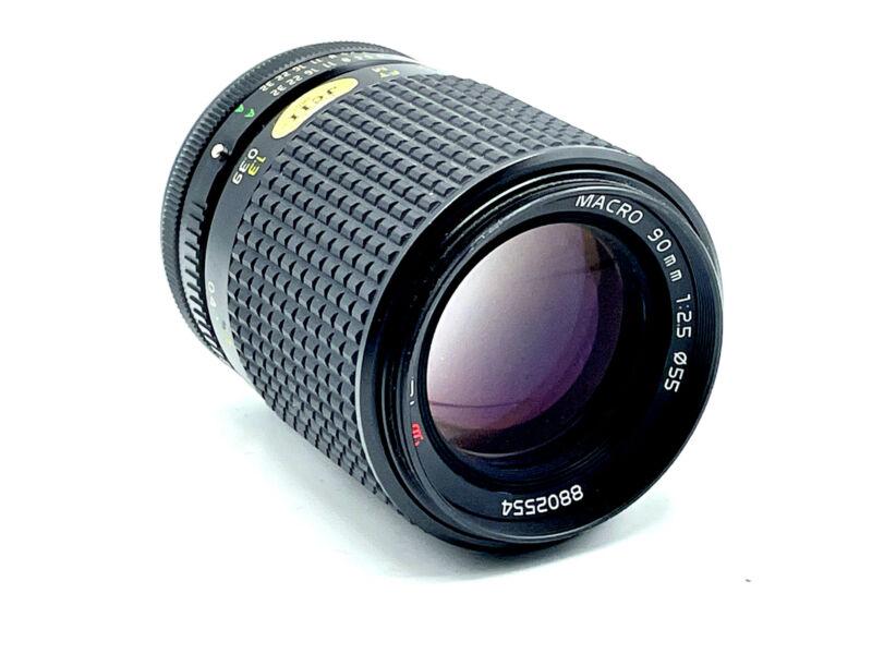 Tokina AT-X 90mm f/2.5 Canon FD-Mount Manual Focus Macro Close-Up Lens