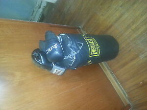 Punching bag and 2 sets of gloves