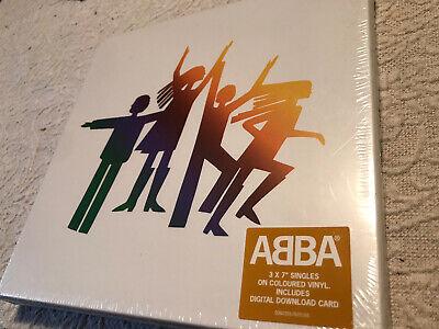 ABBA THE ALBUM THE SINGLES BOX SET Sealed Ltd 1462/3400 X3 Coloured...