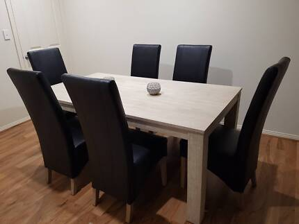 Dining suite - 7 piece (Ash timber table)
