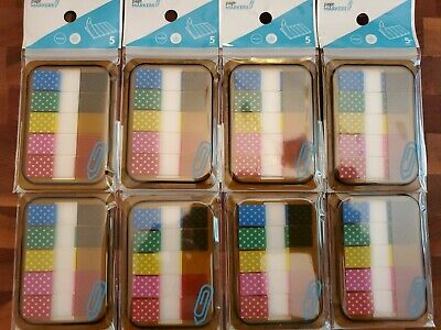 Sticky Index Tabs Page Book Markers 160 Total Bright New Nice Lot Place Holder