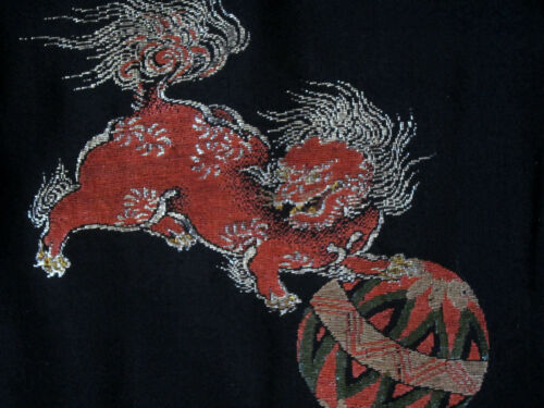 Vintage Japanese Kimono Haori with Shi Shi Lion
