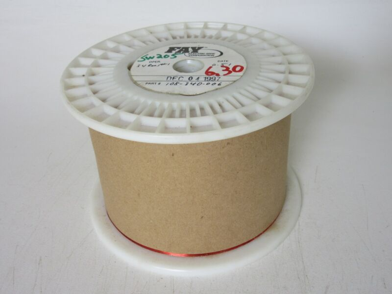 34 AWG  6.30 lbs. FAY  Enamel Coated Copper Magnet Wire