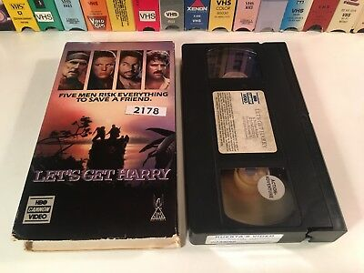* Let's Get Harry 80's Action Adventure VHS 1986 Mark Harmon Gary Busey R. Duval