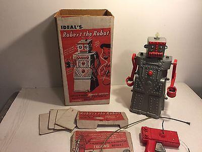 ROBERT THE ROBOT w/ original box & remote control-1950's rare sci-fi toy-IDEAL