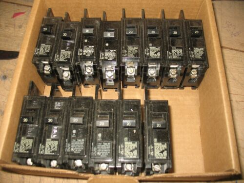 15 pcs. Gould ITE 20 amp Type BQ 1Pole  circuit breakers 120/240 VAC
