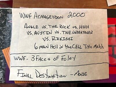 Sold as Blank VHS tape RARE WWF ARMAGEDDON 2000 PPV 6 MAN HELL IN A CELL FOLEY (Wwe 6 Man Hell In A Cell)