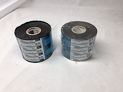 Zebra 05319BK06045 Thermal Transfer Black Wax Ribbons 2.36
