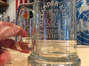 Alexander Keith's Etched Glass Beer Steins (8)