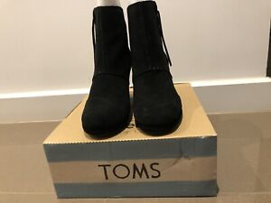 New Toms Wedge Boots Suede 8US Klemzig Port Adelaide Area Preview