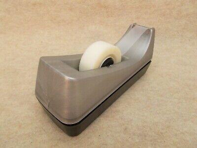 Scotch Tape Dispenser C-38 Desk Top Gray Black 1 Core