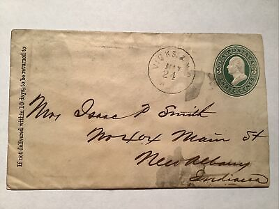 RPO Railroad Post Office 1876 Vicksburg & New Orleans AGT route agent marking