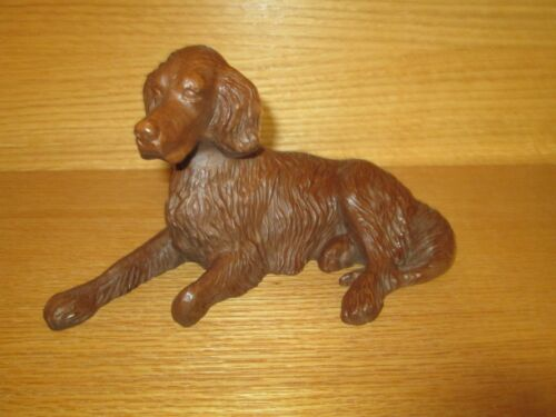 Vintage Red Mill Mfg. Irish Setter Dog Figurine Handcrafted Resin Sculpture