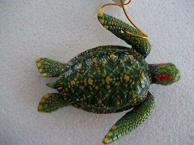 Sea Turtle Tiki Bar & Christmas Ornament Beach Tropical Nautical Decor ST002
