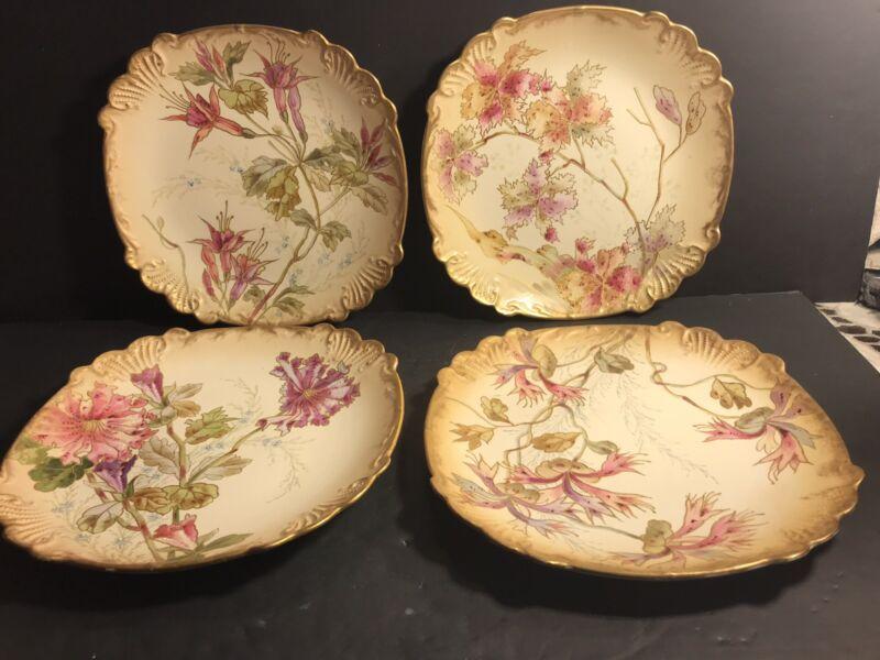 A Set Of 4 Antique Porcelain Plate,Royal Bonn,Art Nouveau/ Germany 1925