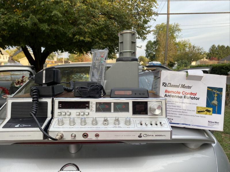 Cobra 2000GTL CB , Echo Box Master Channel Remote Control and Antenna Rotator