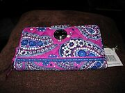 Vera Bradley Turn Lock Wallet Boysenberry