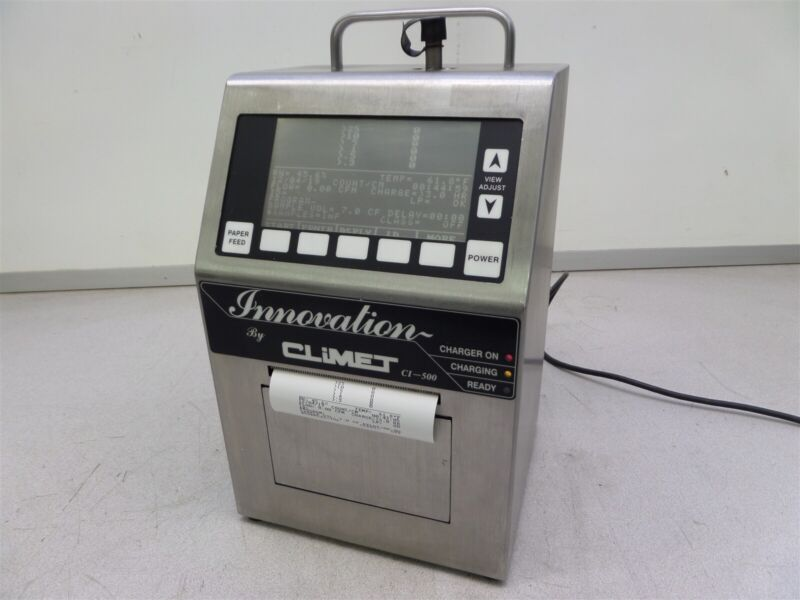 Climet CI-500 Innovation Portable Laser Particle Counter Needs New Battery