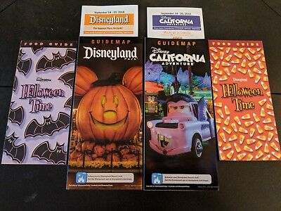 Disneyland Park Map & food guide Halloween Time  2018 ](Map Halloween)