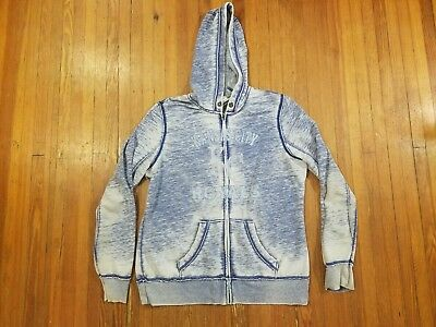Kansas City Royals Majestic Faded Blue Zip Up Hooded Sweatshirt Women's Size L for sale  Shipping to Canada