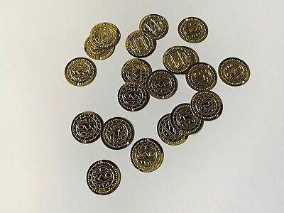 20 Münzen zum annähen Metall Bauchtanz-Kostüm  Schmuck Piraten Münze Geld - Bauchtanz Kostüm Pirat