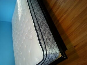 Double Pillow Top Matress and Platform Bed Frame