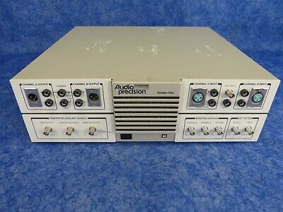 Audio Precision System One-a Audio Analyzer With Swr-122m Swr-122f Pci Card