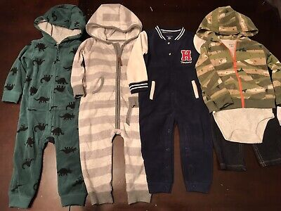 Infant Baby Boy 18 Month Carters Clothing Outfits & Sets Fleece Zip Hoodie