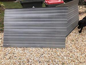 Basalt grey aluminium window awnings fixed