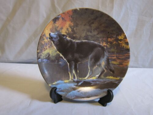 Russ The North American Wildlife Collection Wolf Plate Limited Edition