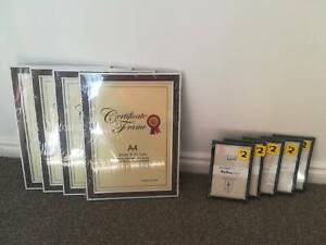 Certificate and Photo Frames - set of 9!