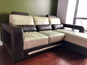 Leather Sectional .