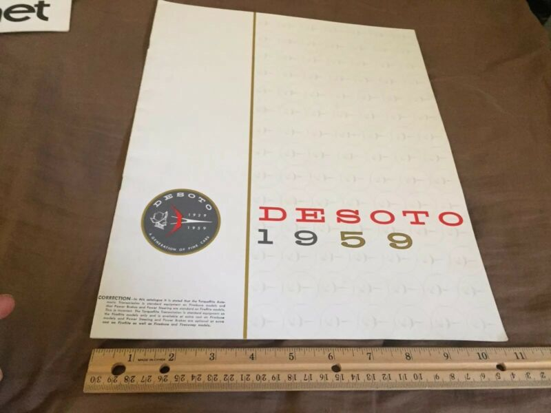 1959 DeSoto Firedome Adventurer Fireflite Color Brochure Catalog Prospekt