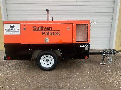 2013 Sullivan D375 Towable Diesel Air Compressor 375cfm 100150psi 1426 Hours
