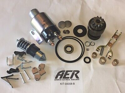 International 886d 986d Diesel Starter Repair Rebuild Kit Delco 1113446 Solenoid